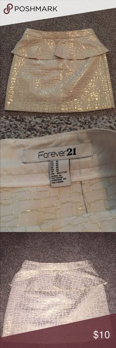 Forever21 skirt Peplum skirt- worn once! Forever 21 Skirts Mini