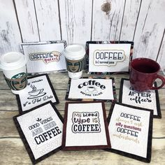 ITH Coffee Lovers Mug Rugs Embroidery Project by Pat Williams
