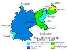 German territorial losses, 1919–1945