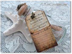 Rustic Beach Wedding massage in a bottle   Message In A Bottle Personal Beach Wedding by A2SeaCreations, $14.99