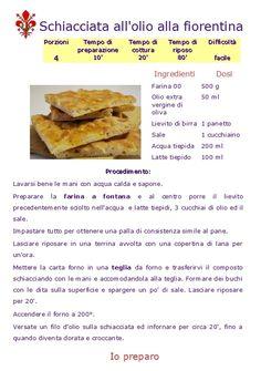 SCHIACCIATA ALL'OLIO ALLA FIORENTINA - www.iopreparo.com