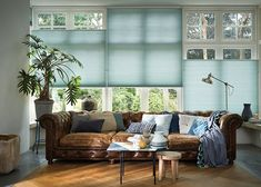 KAT: We're considering something like top down/bottom up blinds for the ground floor, to add privacy without blocking light Where To Buy Blinds, Perfect Fit Blinds, Fitted Blinds, Store Venitien, Chesterfield Bank, Privacy Blinds, Budget Blinds, Up House, Window Styles