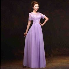 Pale Purple Bridesmaid Dresses