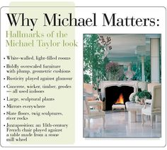 Michael Taylor has influenced interior design for over 40 years.