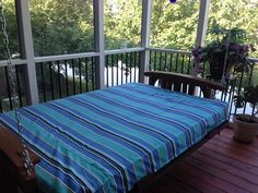 Futon Porch Swing On My With Custom Sunbrella Removable Cover From Futons Net