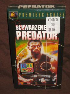 PREDATOR VHS (1997) SCHWAZENEGGER