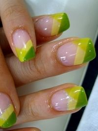 Diagonal French Tips; would like with different colors.