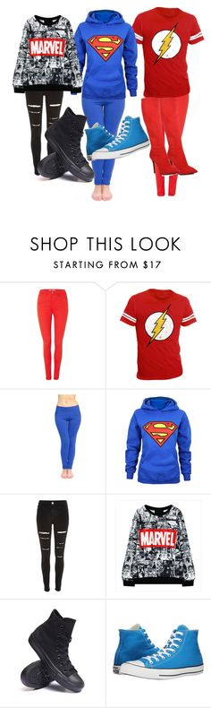 """hashtag what's your favorite superhero"" by desiremerriam ❤ liked on Polyvore featuring beauty, BlendShe, River Island, Converse and Giuseppe Zanotti"