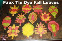 Faux Tie Dye Fall Leaves