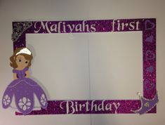 photo frame party prop princess  Sofia the first to take  pictures, selfie