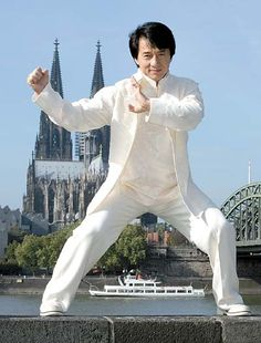 Dress like a star - Jackie Chan in white Chinese traditional KungFu Wear JAKIE CHAN