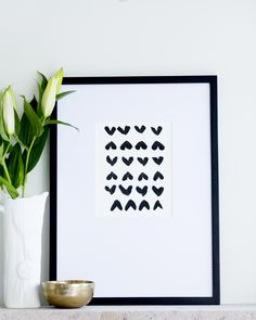 Black Hearts. Limited Edition art print. In stock $40-65