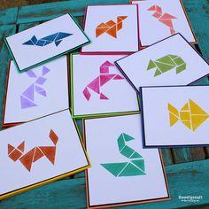 Tangram Rubber Stamps DIY!