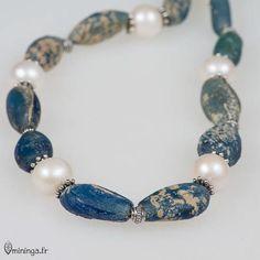 Nefertiti  Teardrop Blue Ancient Roman Glass Beads and by Mininga, $272.00
