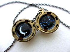 Virgo Constellation Locket  Personalized Jewelry  by kharaledonne, $40.00