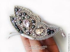 The Beading Gem's Journal: Bead Embroidered Butterfly Brooch Tutorial Bead Embroidery Jewelry, Beaded Embroidery, Beaded Jewelry, Handmade Jewelry, Beaded Crafts, Jewelry Crafts, Beading Tutorials, Jewelry Making Tutorials, Diy Collier