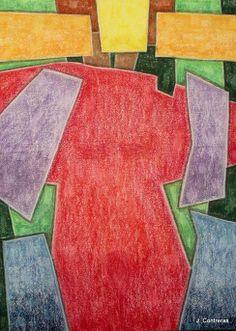Dama de Rojo Autor: José Contreras Categoría: Dibujo - acuarela. Técnica: Pastel sobre papel Daponte. Medidas: 70 x 50 cms. Fecha: 2007. Marco: Si. Firma: Si.