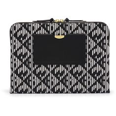 "Henri Bendel West 57th Modern Monogram 13"" Laptop Case (£67) ❤ liked on Polyvore featuring accessories, tech accessories, optic hb print, laptop sleeve cases, padded laptop case, monogram laptop case, leather laptop case and laptop cases"