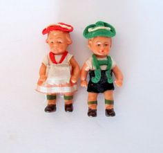50 Off Sale Vintage Plastic Miniature Doll Couple by teresatudor, $12.99