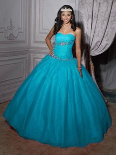 Beautiful Ball Gowns | Beautiful ball gown sweetheart-neck floor-length quinceanera dresses ...