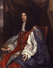 Charles II of England. Lived in exile during the English Civil War, his father King Charles I was executed in 1649. Following the death of Oliver Cromwell in 1658, Charles II was invited back to England to take the throne. He was known as the 'Merrie Monarch'. He had several mistresses and several illegitimate children