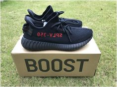 factory price e0586 fe5e4 Yeezy Boost 350 v2 Core Black   Red4 Yeezy 350 V2 Black, Adidas Shoes Nmd