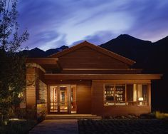 Mountain Entry, Glassy and Open Floor Plan yet still feels at Home on the Ranch  Mountain  Front Facade  Entryway by Robbins Architecture