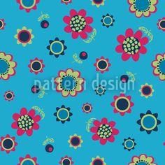 Heaven Full Of Flowers Vector Ornament Vector Pattern, Surface Design, Flower Designs, Heaven, Fantasy, Patterns, Flowers, Block Prints, Sky