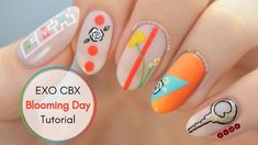 #EXOCBX #BloomingDay Inspired Nail Art Tutorial