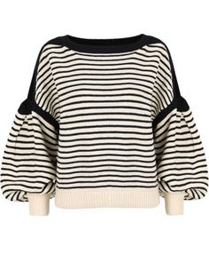 Black Apricot Cut Out Shoulder Puff Sleeve Sweater