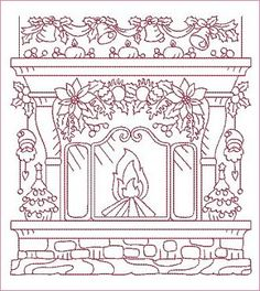 Coloring Book Outgrow Embroidered Christmas Outline Patterns