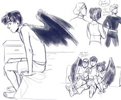 I wasn't really planning to do the redesign prompt, but after reading this fic by my hand kind of slipped. Winged AUs are my guilty pleasure Like the Mer! Or the fantasy! Danny Phantom, Cartoon Crossovers, Cartoon Tv, Fantasma Danny, Ghost Shows, Phantom Comics, Humanoid Creatures, Ghost Boy, Billdip