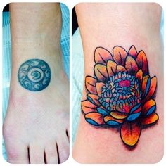Little foot eyeball cover up by Thorns today.  #tattoo #coverup #coveruptattoo #tattoocoverup