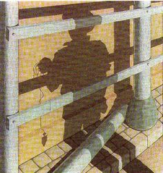 'Study of trompe l oeil', 1936 by Victor Vasarely (1906-1997, Hungary)