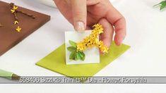 How to Use Sizzix Thinlits Forsythia Flower Die (+playlist)