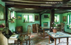1920's English cottage of Leonard and Virginia Wolfe of the Bloomsbury Group