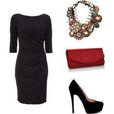 Color de zapatos para vestido negro con dorado