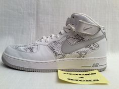 VINTAGE NIKE AIR FORCE 1 SNAKESKIN [310277-101] EXTREMELY RARE SIZE 13 HIGH TOP #Nike #AthleticSneakers