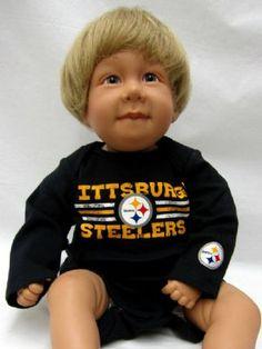 Steelers Baby My Crib Long Sleeve Bodysuit Set Pittsburgh Steelers Merchandise, Long Sleeve Bodysuit, Cribs, Baby, Cots, Bassinet, Baby Crib, Baby Humor, Crib