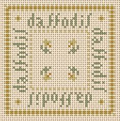 A Girl As Mad As Birds: March Biscornu and Fob - Free Cross Stitch Chart!
