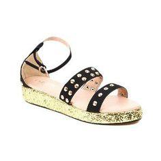 Carlton London Women's Black Sandals-CLL-2633