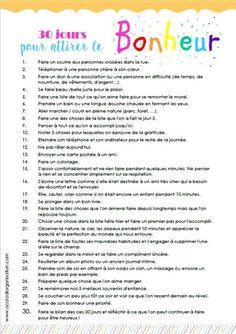 30 jours pour attirer le bonheur                                                                                                                                                                                  Plus