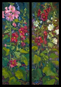 """Sisters"" by Tricia Bass Oil ~ 36"" x 12"" (x2)"