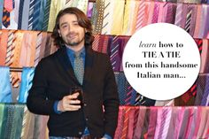 Every woman should know how to tie a good tie!  Learn from one of the best (and the most handsome...)  [via www.thechicagolifeblog.com]