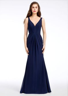 1812e576412 Style 5651 Hayley Paige Occasions bridesmaids dress - Indigo chiffon A- line  bridesmaid gown