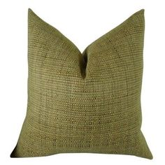 Plutus Kosoff Kelp Handmade Throw Pillow, Double Sided, Green