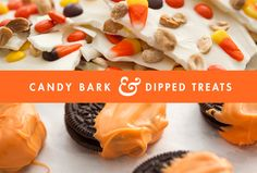 Make candy bark and dipped treats for Halloween—fun and festive!