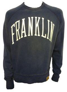 FLMR221W12 Cracked Logo Sweatshirt by Franklin & Marshall.