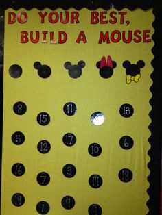 This bulletin board displays student progress on the STAR test that they take Mickey Mouse Classroom, Disney Classroom, Future Classroom, Classroom Themes, School Classroom, School Fun, Classroom Organization, Kindergarten Classroom, School Stuff