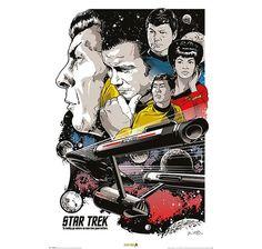 Star Trek Poster Boldly Go 50th Anniversary. Hier bei www.closeup.de